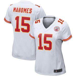 NEW NFL Women's 15# Mahomes Nike White jersey